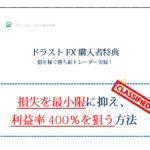 ドラゴンストラテジーFXに購入特典「損失を最小限に抑え、利益率400%を狙う方法」を追加