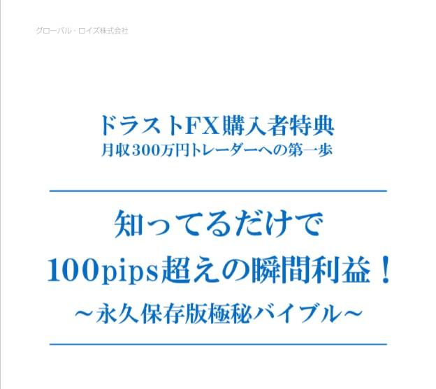 ドラゴンストラテジーFXに購入特典「知ってるだけで100pips超えの瞬間利益!」を追加