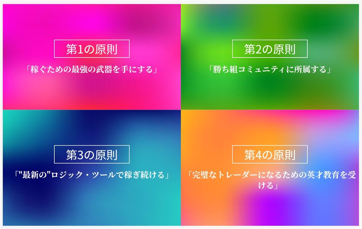 FX-Katsu 億トレーダー・養成アカデミーの元:FX成功の4原則