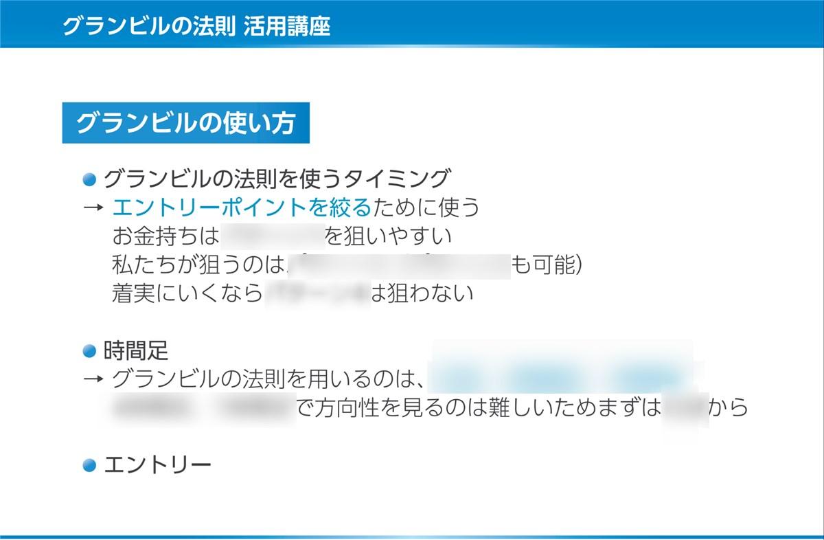 FX-Katsu 億トレーダー・養成アカデミー:グランビルの法則
