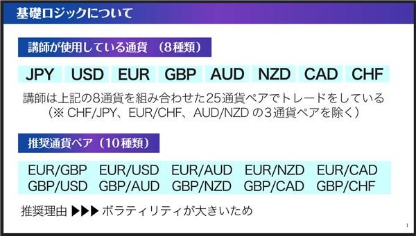 ネオ・ジーニアスFX:対象通貨ペア