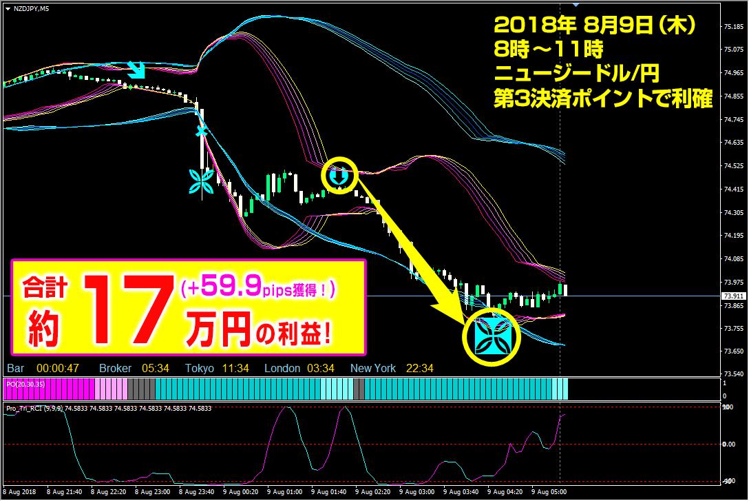 プロフェッショナル・トリガーFX 最新トレード動画でらくらく決済→16万円