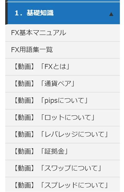 矢田式リバーサルFX:会員サイト「基礎知識」
